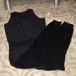 Black Velvet New York& Company Jumpsuit